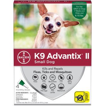 K9 Advantix II 4pk Green Dog 4-10 lbs product detail number 1.0