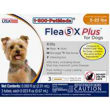 Flea5X Plus 3pk Dogs 5-22 lbs-product-tile