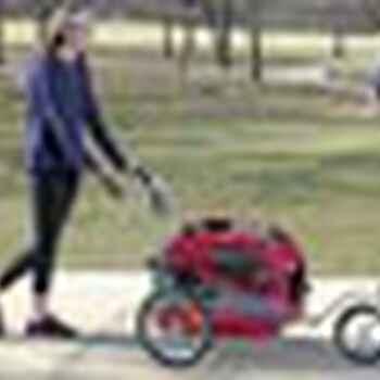 Solvit HoundAbout II Aluminum Pet Bicycle Trailer Stroller Conversion Kit