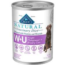 BLUE Natural Veterinary Diet W+U Weight Management + Urinary Care Canned Dog Food-product-tile