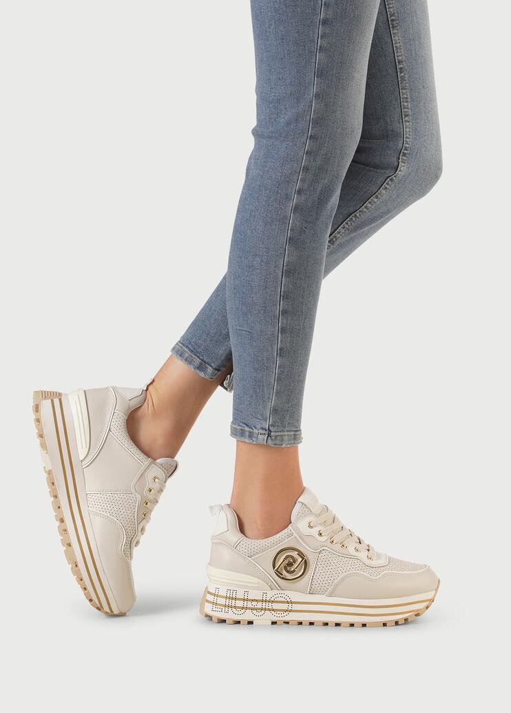 Damen Sneakers LIU JO Maxi Wonder 20 Milk Wildleder Fabric Beige