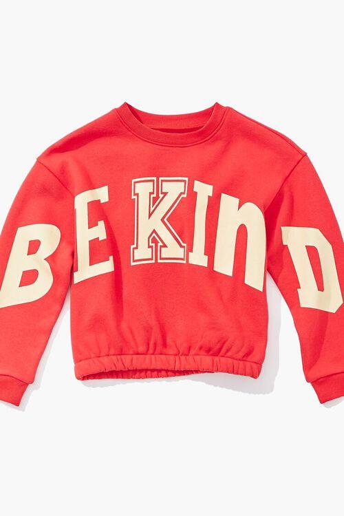 RED/MULTI Girls Be Kind Graphic Sweatshirt (Kids), image 3