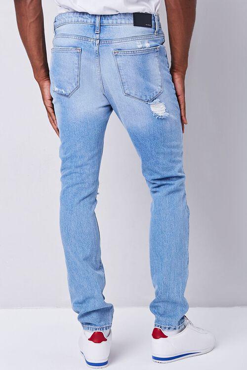 MEDIUM DENIM Premium Distressed Slim-Fit Jeans, image 4