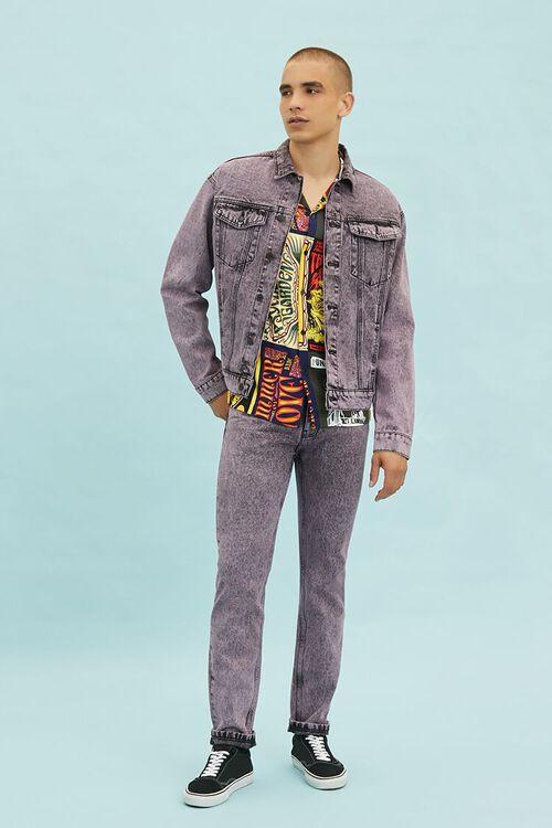 PINK/BLACK Stonewashed Slim-Fit Jeans, image 1