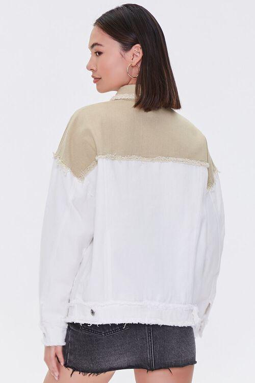 Frayed Colorblock Denim Jacket, image 3