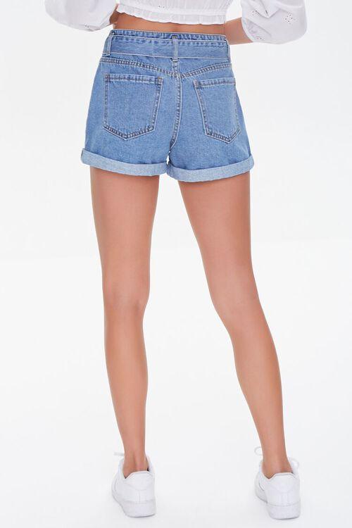 Tie-Belt Denim Shorts, image 4