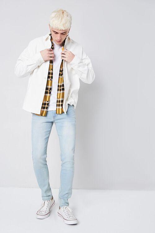 LIGHT DENIM Stonewash Skinny Jeans, image 1