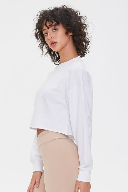 French Terry Drop-Sleeve Pullover, image 2