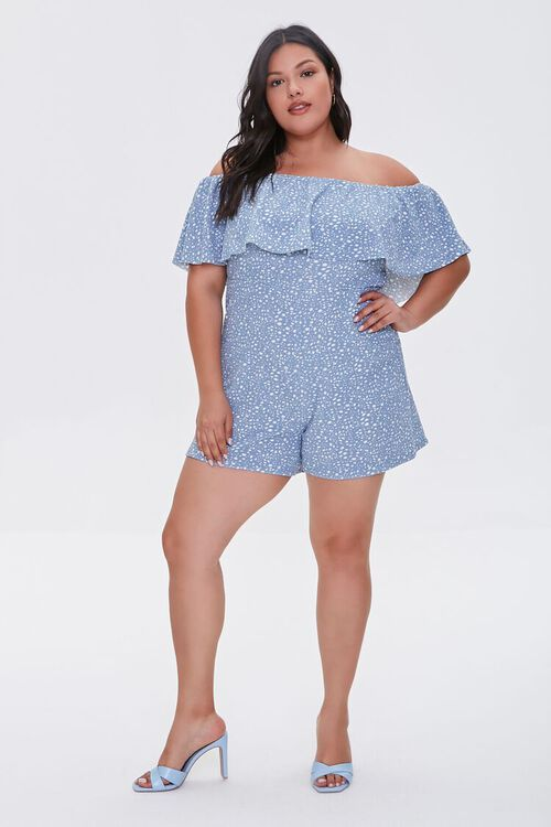 Plus Size Spotted Romper, image 4