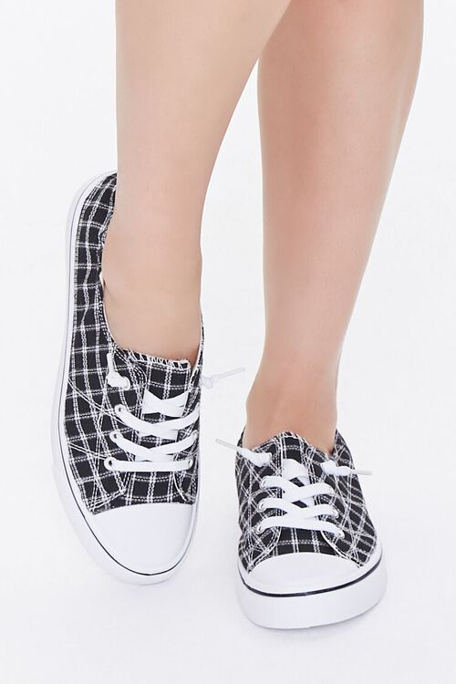 Plaid Canvas Low-Top Sneakers, image 4