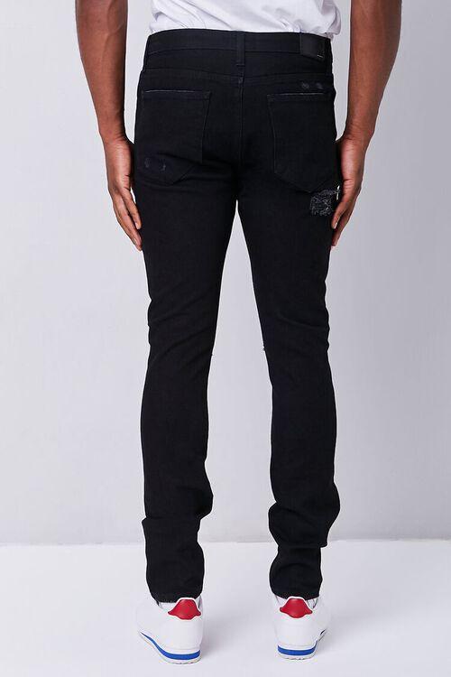 BLACK Premium Distressed Slim-Fit Jeans, image 4