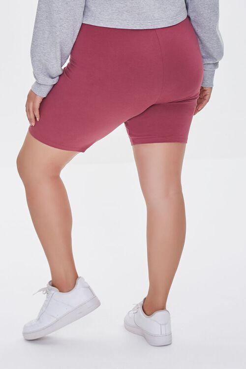 BERRY Plus Size Organically Grown Cotton Basic Biker Shorts, image 4