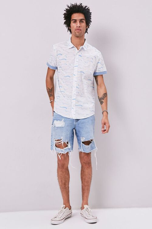 Wave Print Fitted Shirt, image 4