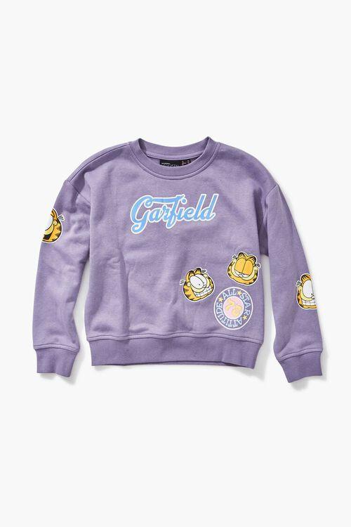 PURPLE/MULTI Girls Garfield Graphic Sweatshirt (Kids), image 1