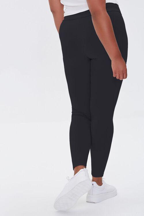 BLACK Plus Size Basic Organically Grown Cotton Leggings, image 4