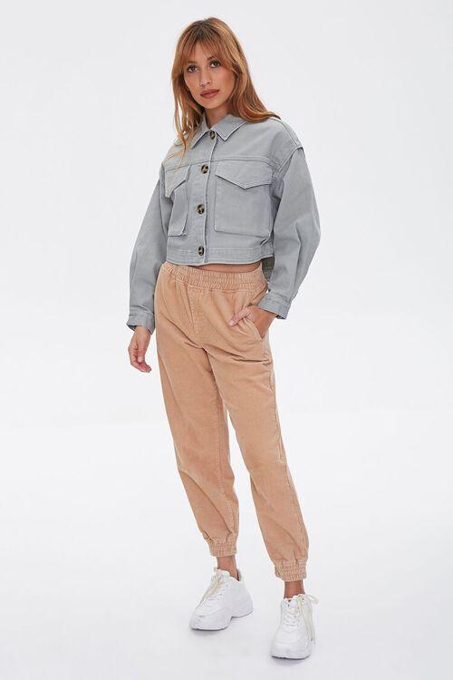 Cotton Button-Up Jacket, image 4