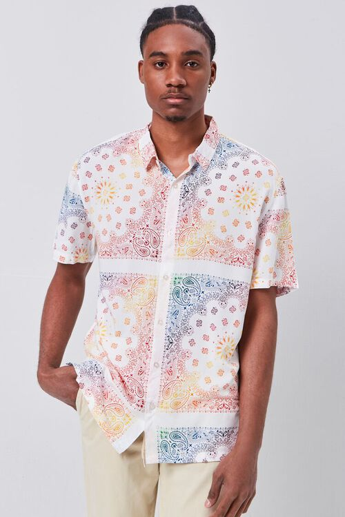 Classic Fit Ornate Print Shirt, image 1
