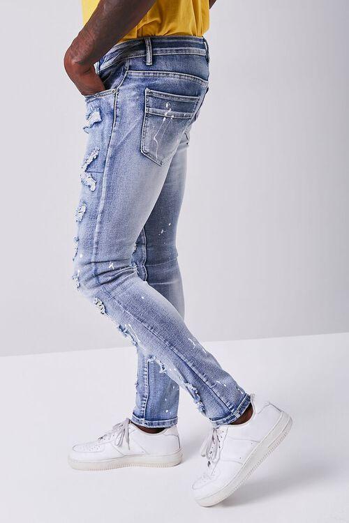 BLUE Paint Splatter Distressed Jeans, image 3