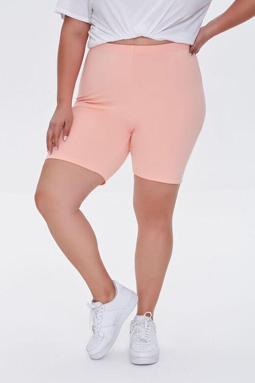 APRICOT Plus Size Organically Grown Cotton Biker Shorts, image 2
