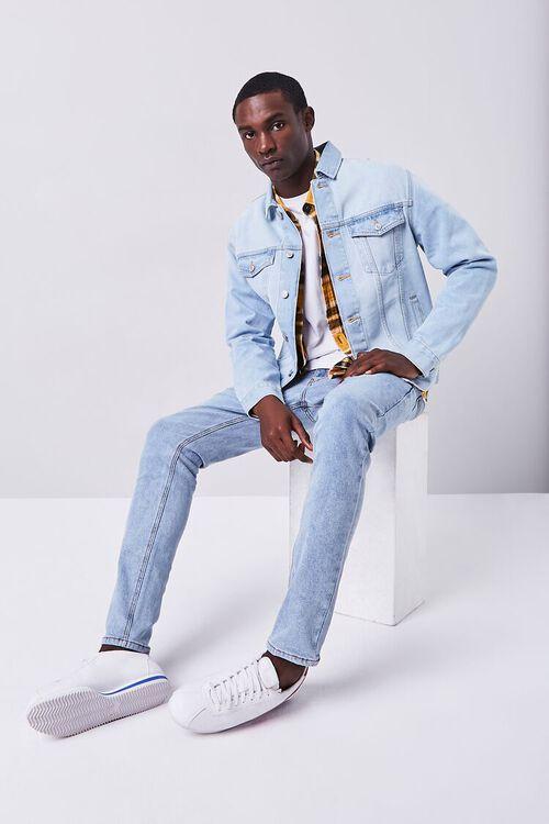 MEDIUM DENIM Stonewash Skinny Jeans, image 1