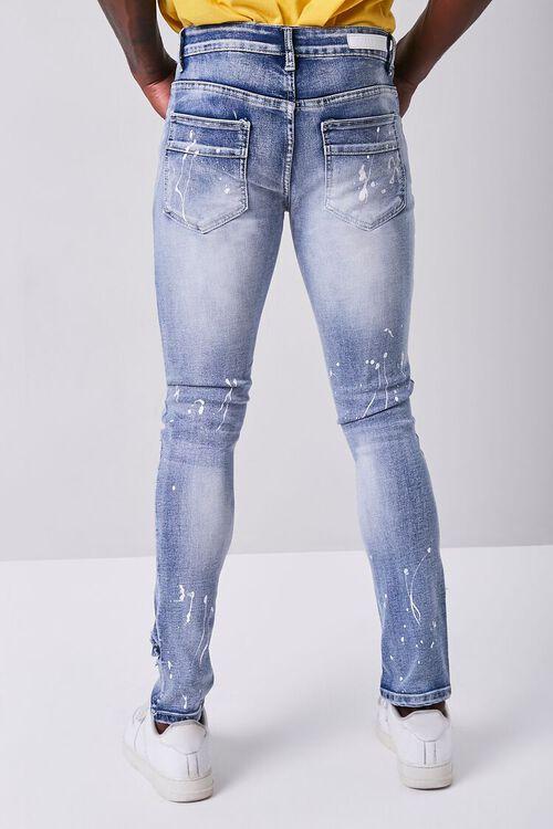 BLUE Paint Splatter Distressed Jeans, image 4