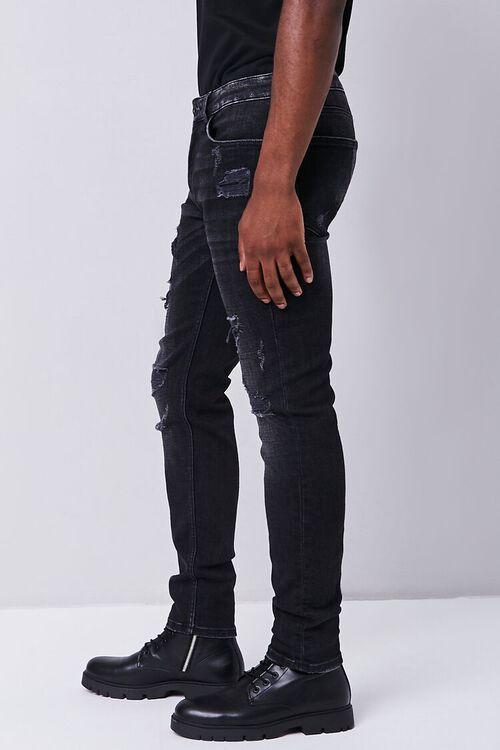 BLACK Distressed Slim-Fit Jeans, image 3