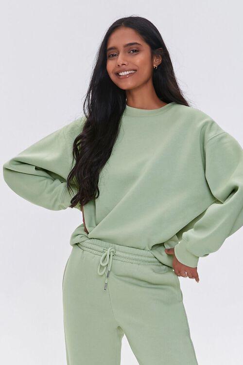 Basic Fleece Crew Pullover, image 1