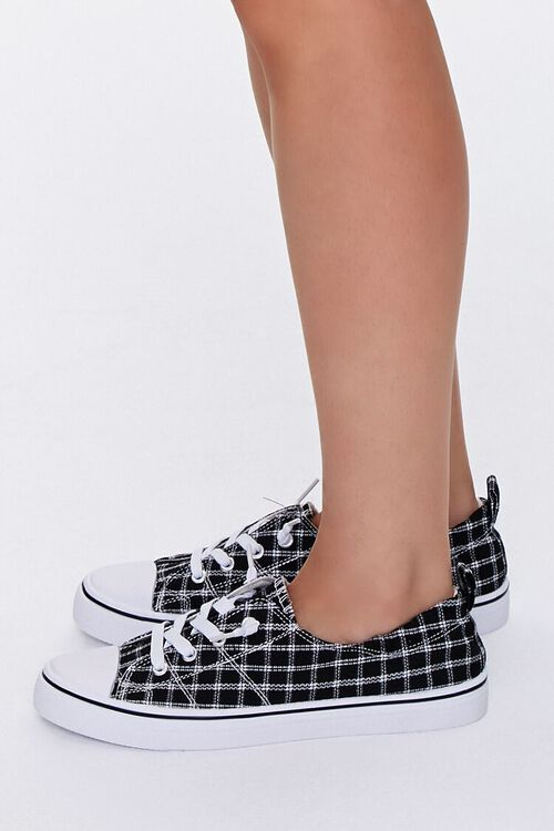Plaid Canvas Low-Top Sneakers, image 2