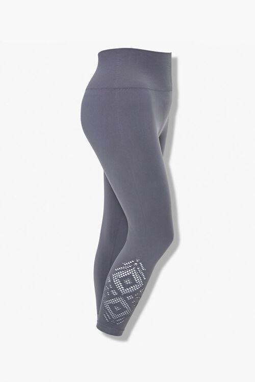 Plus Size Cutout Capri Leggings, image 1