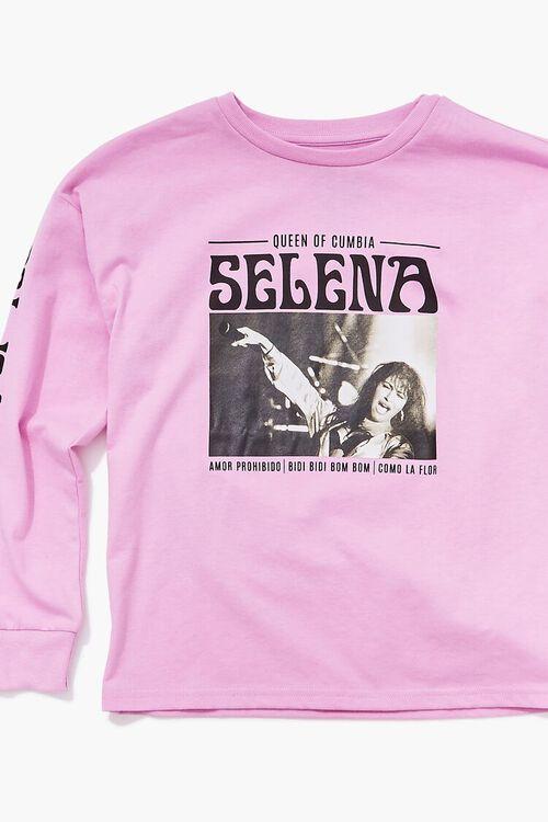 PINK/BLACK Girls Selena Graphic Tee (Kids), image 3
