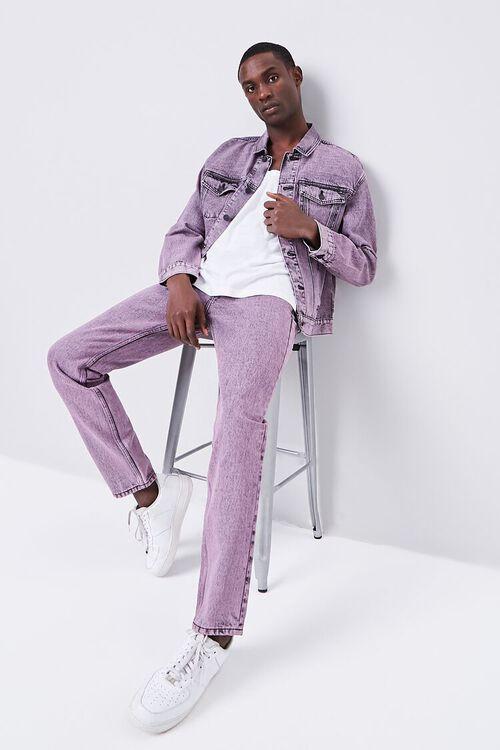PINK/BLACK Stonewashed Slim-Fit Jeans, image 5