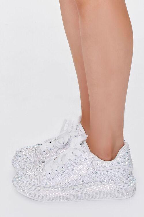 Rhinestone-Embellished Low-Top Sneakers, image 2