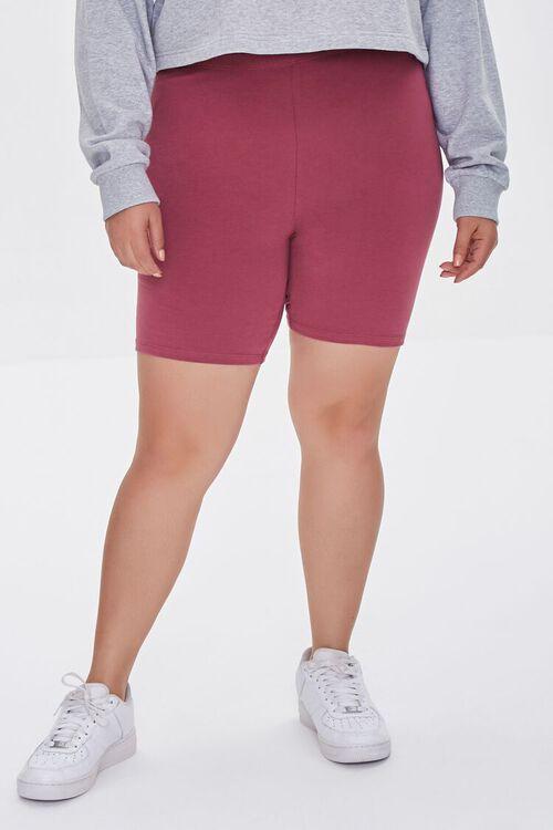 BERRY Plus Size Organically Grown Cotton Basic Biker Shorts, image 2