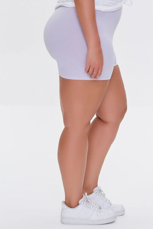 DUSTY LAVENDER Plus Size Basic Organically Grown Cotton Hot Shorts, image 3