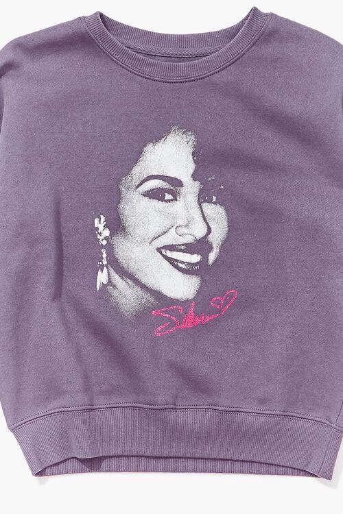 PURPLE/MULTI Girls Selena Graphic Pullover (Kids), image 3