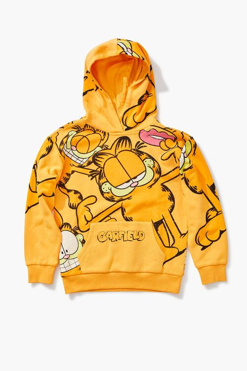 ORANGE/MULTI Girls Garfield Graphic Hoodie (Kids), image 1