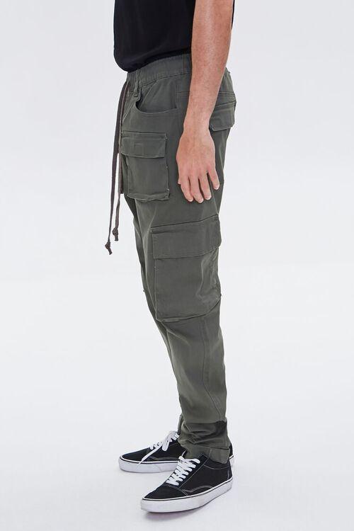 Cuffed Drawstring Cargo Pants, image 3
