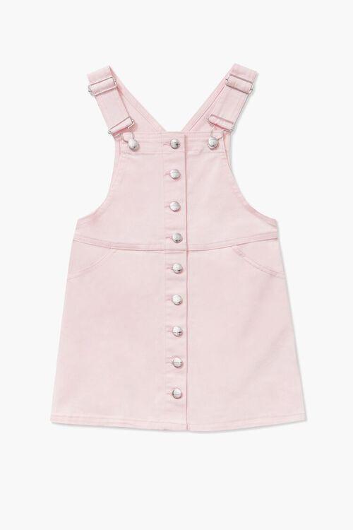 Girls Denim Overall Dress (Kids), image 1