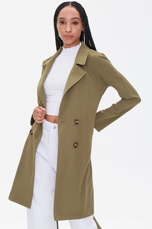 Double-Breasted Duster Jacket, image 1