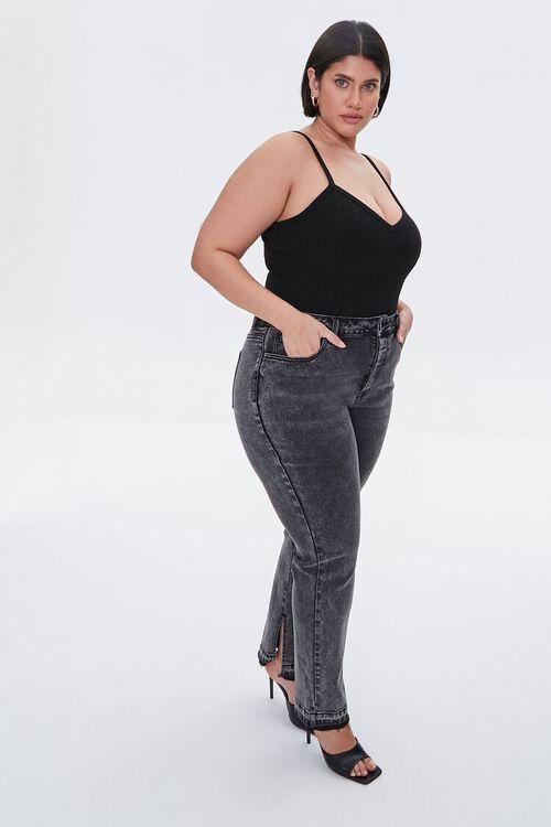 Plus Size Release-Hem Jeans, image 1
