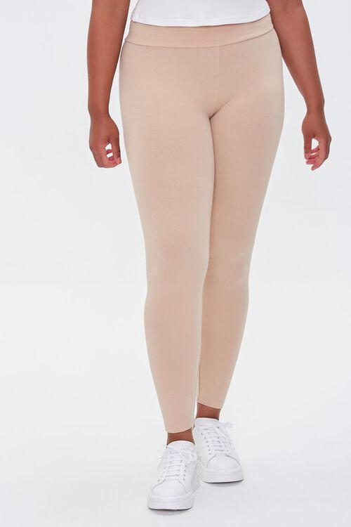 NUDE Plus Size Basic Organically Grown Cotton Leggings, image 2