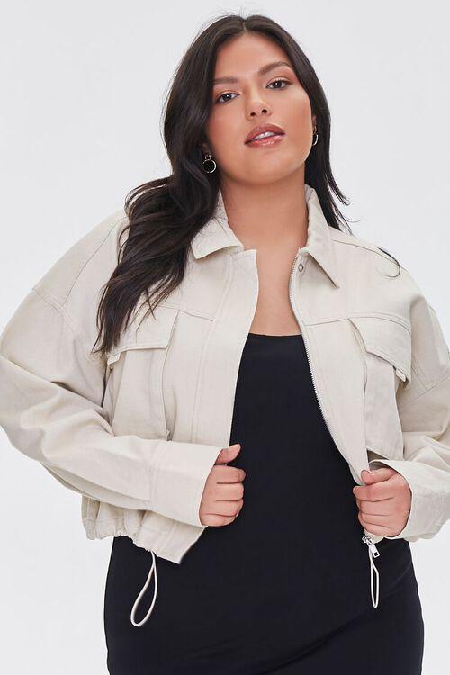 Plus Size Drop-Sleeve Jacket, image 1