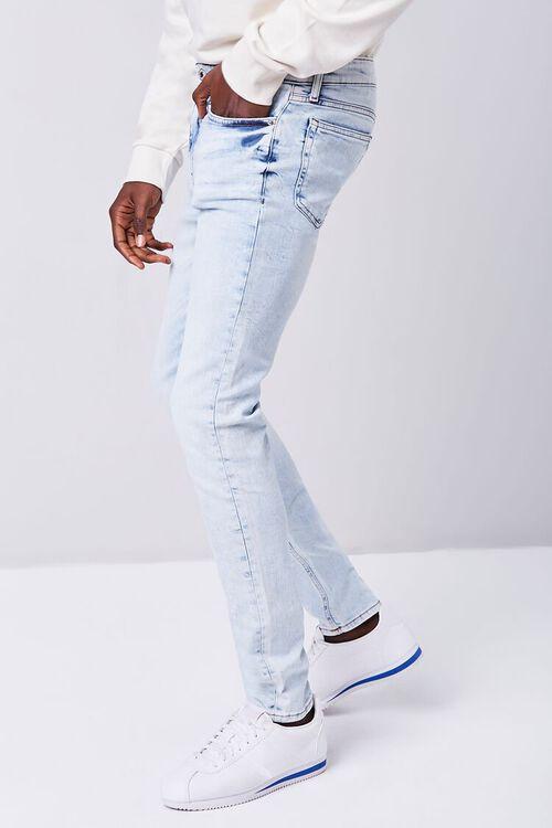 LIGHT DENIM Premium Paint Splatter Skinny Jeans, image 3