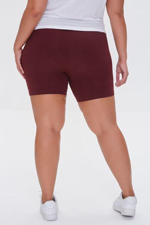 WINE Plus Size Organically Grown Cotton Biker Shorts, image 4