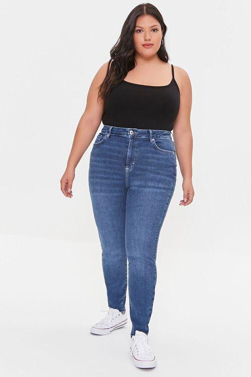 BLACK Plus Size Basic Organically Grown Cotton Bodysuit, image 4