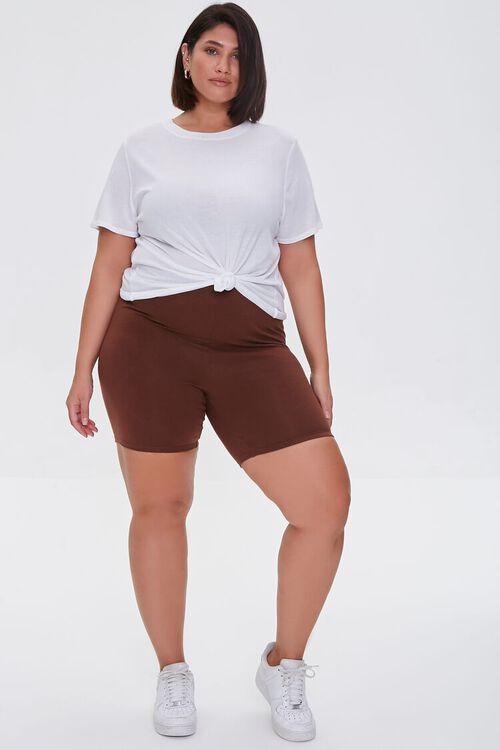 CHOCOLATE Plus Size Organically Grown Cotton Biker Shorts, image 5