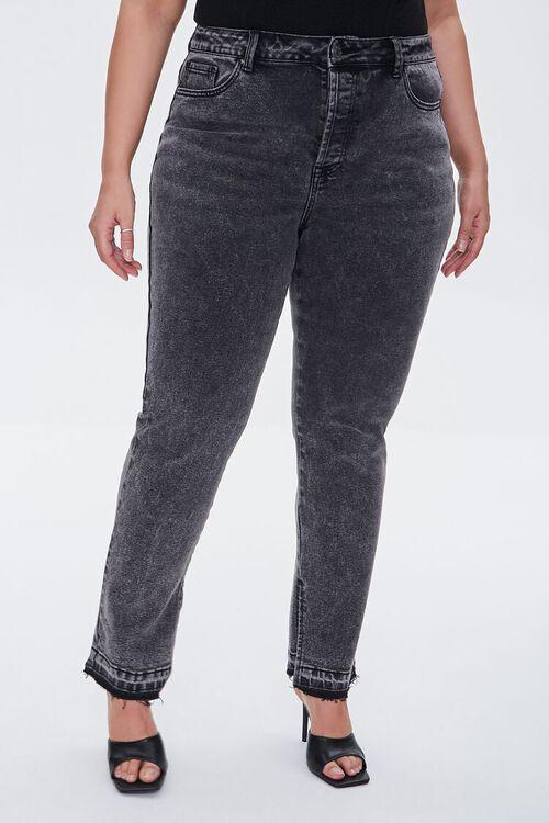 Plus Size Release-Hem Jeans, image 2