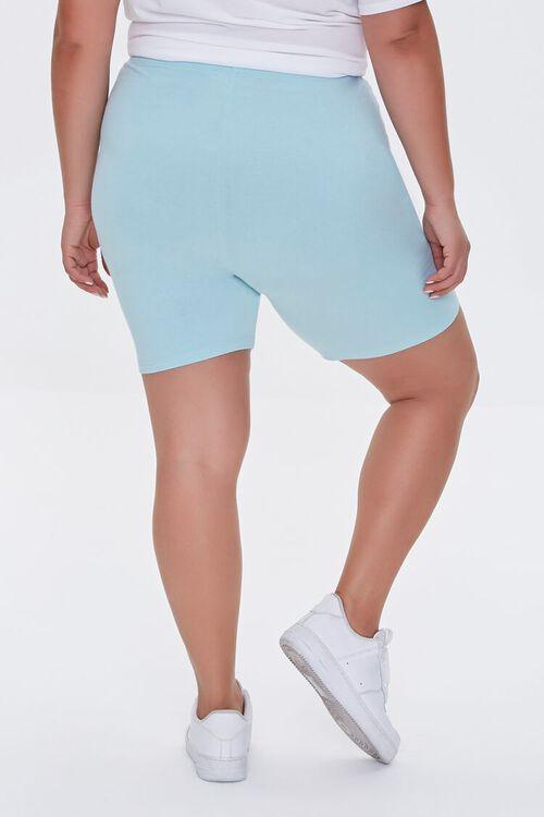 AQUA Plus Size Organically Grown Cotton Biker Shorts, image 4