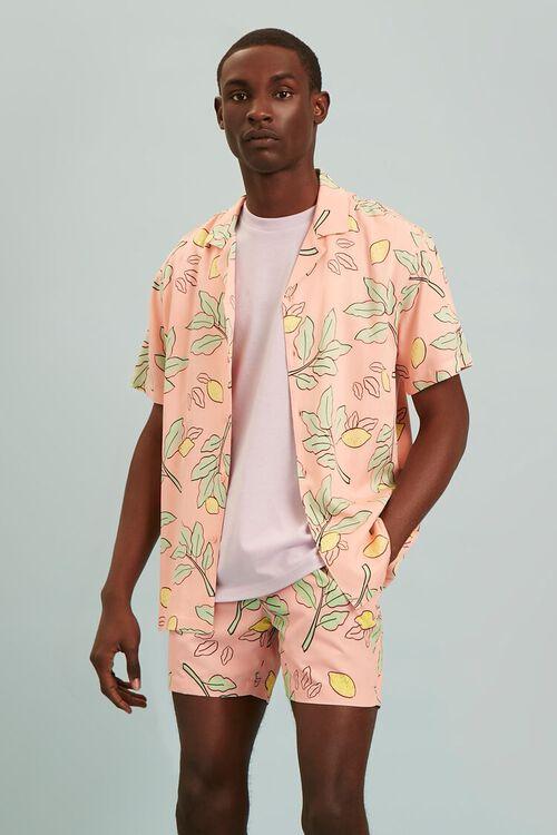 Classic Fit Lemon Print Shirt, image 1
