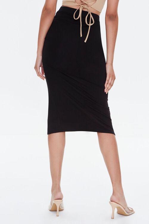 Ruched Drawstring Bodycon Midi Skirt, image 4
